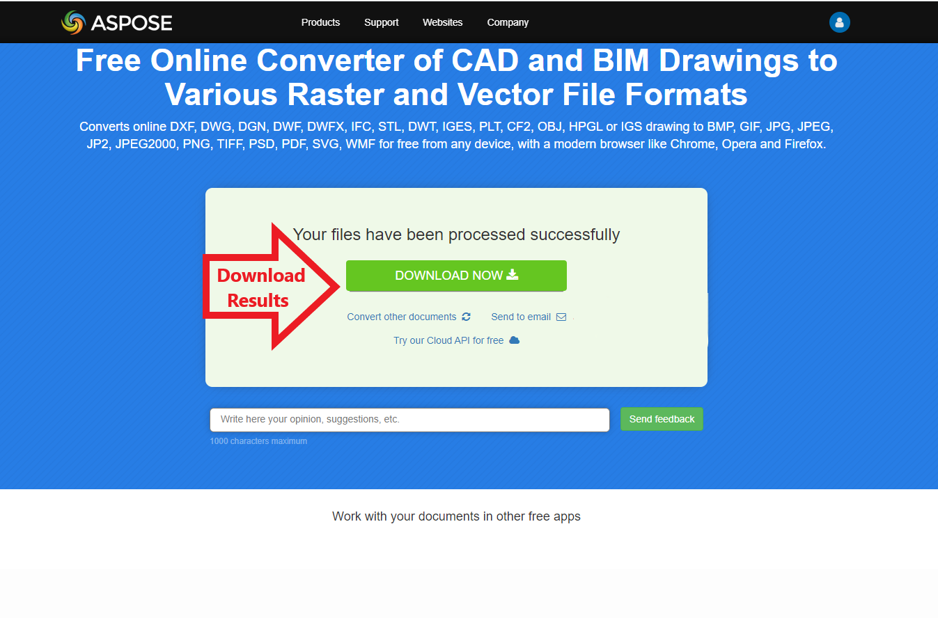 Free DWG To TIFF converter